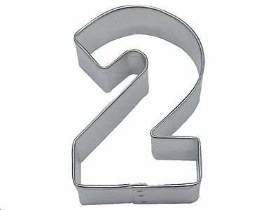 """Two  Number  Cookie Cutter 3""""        Number 2 Age Party Cake Fondant Boy Girl"""