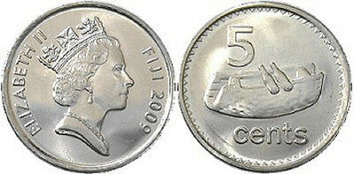 Fiji 1992 5 Cents Uncirculated (KM51a)