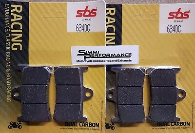 SBS Dual Carbon FRONT BRAKE PADS 634DC YAMAHA YZF R6 1999-2017 R1 98-06 2015-