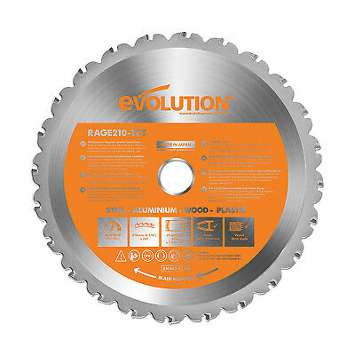 Evolution Rage® Rage3-S Rage3-S300 210mm Circular Saw Blade 25.4mm Bore 24 Teeth