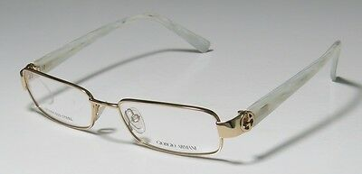NEW GIORGIO ARMANI 424 50-16-135 GOLD/PEARL VISION CARE STAINLESS STEEL FRAMES !