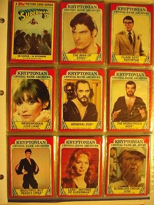 Complete Set 1980 Topps Superman II cards-88 ex/mt cards in pages