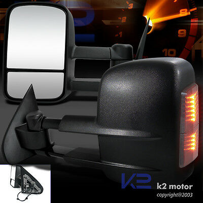 14-17 Silverado/Sierra 1500 Telescoping Tow Power Side Heated Mirrors+LED Signal