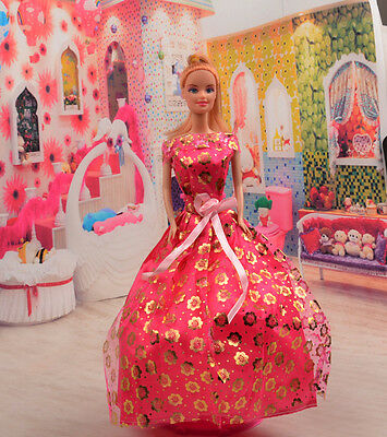 2014 Hot style Fashion Handmade princess  party Clothes dress For Noble Doll D37