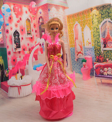 2014 Hot style Fashion Handmade princess  party Clothes dress For Noble Doll D26