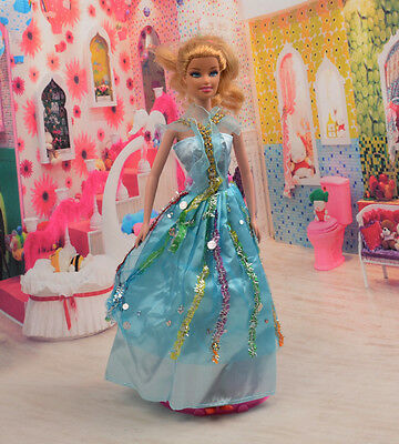 2014 Hot style Fashion Handmade princess  party Clothes dress For Noble Doll D24