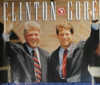 Clinton For President Union Campaign Poster