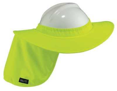 ERGODYNE 6660 Hard Hat Brim with Shade,Lime,Polyester