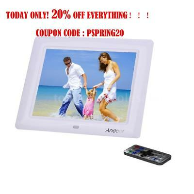 """8"""" inch LCD Digital Photo Frame Picture Alarm MP4 Movie Player + Remote Control"""