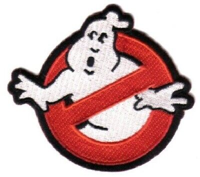 "Ghostbusters Movie No Ghosts Logo 6"" Embroidered Jacket Patch, NEW UNUSED"