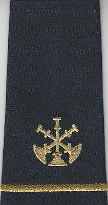 2 Fire Assistant/Deputy Chief Epaulet Shoulder Boards 3 Bugles Gold/Midnight