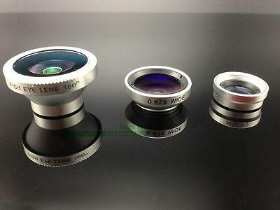 Camera Lens Kit 3in1 Fish eye+Wide Angle+Macro for iPhone 8 Plus Galaxy S8 edge