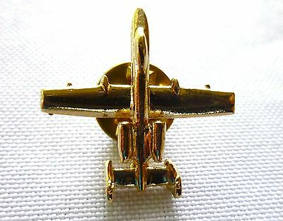 A10 TANK KILLER AIRCRAFT LAPEL PIN Gold Coloring w/ Butterfly Clasp Plane >NEW<