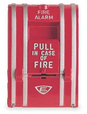 EDWARDS SIGNALING 270-SPO Fire Alarm Pull Station, Red, L 3 1/8 In