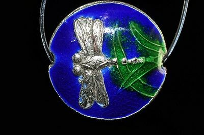 One/Asian Flair~Vintage Chinese CLOISONNE ENAMEL DRAGONFLY Bead L0862