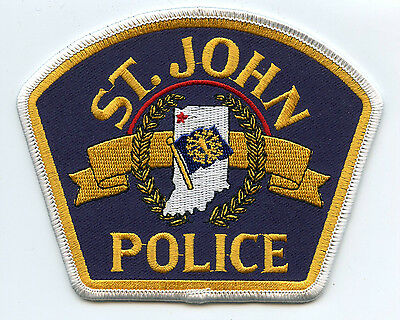 ST saint JOHN INDIANA IN POLICE PATCH