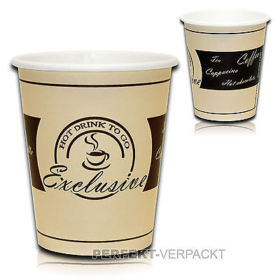 Kaffeebecher EXCLUSIVE 0,2l Coffee to go Becher Hartpapierbecher Pappbecher +