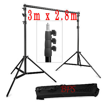BPS 3m x 2.8m Photo Background Backdrop Support Stand System Kit Set 10ft x 9ft