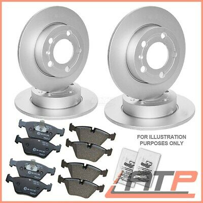 Kit Brake Discs + Pads Front Rear Ø256 Vw Bora 1J Golf Mk 4 Iv Polo 9N