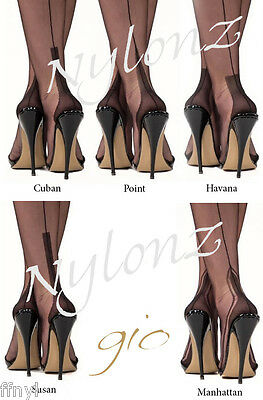 Gio Fully Fashioned Stockings - All Sizes, Colours & Heel Styles - Imperfects