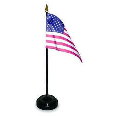 ANNIN FLAGMAKERS 47300 4 in. X 6 in. Miniature Set with U.S. Flag and Black