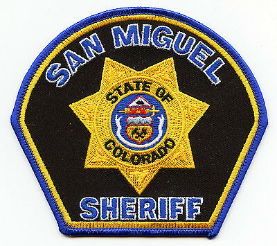 San Miguel County Colorado Co Sheriff Police Patch