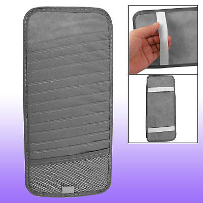 Elastic White Band Car CD 12 Sun Visors Organizer Gray