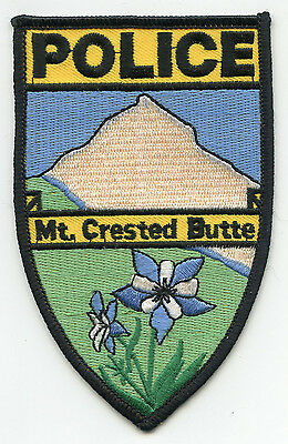 MT mount CRESTED BUTTE COLORADO CO POLICE PATCH
