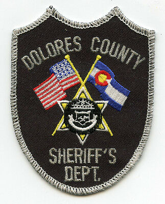 old vintage DOLORES COUNTY COLORADO CO state flag SHERIFF POLICE PATCH