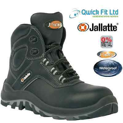 New Mens Jallatte Waterproof Leather Safety Work Boots S3 Composite Toe Cap Size