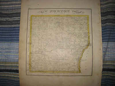 Antique 1874 Norton Summit County Ohio Handcolored Map W Lithograph Print Nr