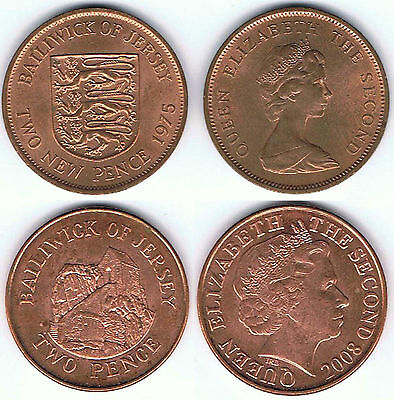 JERSEY 2p 2 Pence Coin Hunt 1971 onward Choose your item Supplied in Coin Wallet