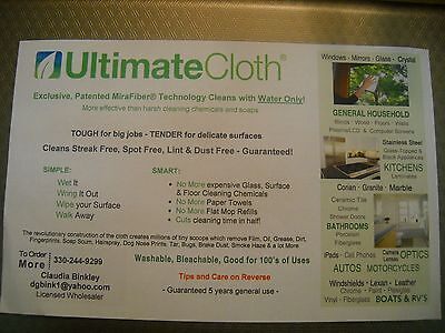 ULTIMATE Cleaning CLOTH MiraFiber STREAK FREE LINT DUST FREE NO Scratches 2PACK!