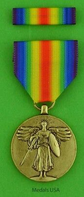 WWI Victory Medal  U.S. - made in the USA - United States World War One WW1