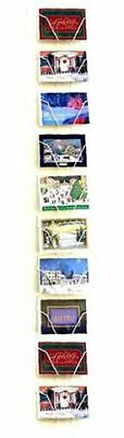 """For Sale 10 Pocket 6"""" x 4"""" Horizontal Post Cards Wall Display Rack (White)"""