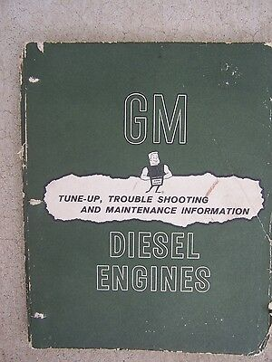 1956 General Motors Series 71 Diesel Engine Tune Up Maintenance Manual  T