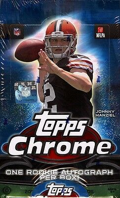 2014 TOPPS CHROME FOOTBALL HOBBY SEALED BOX