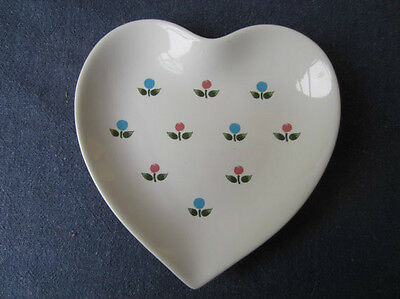 Heart Shaped Trinket Dish w/ Floral Decoration, from Andrea by Sadek