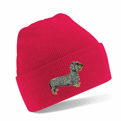 Dachshund Wire Haired Beanie Hat  Embroidered by Dogmania