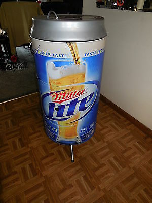 (L@@K) MILER LITE GIANT BEER CAN CHARCOAL GRILL PATIO TAILGATE BREWERS PACKERS