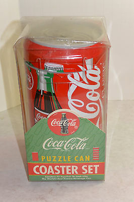 Vintage 1995 Coke/coca Cola Puzzle Can! Coaster Set! Set Of 6 Coasters Stack!