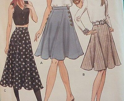 Easy VTG 94 VOGUE 8986 MS/MP Flared Skirts~3 lengths PATTERN 8-10-12/14-16-18 UC