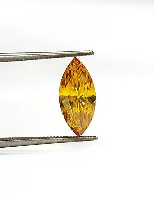 Citrine Gemstone Marquise Shaped Measuring 15 x 7mm Faceted Stone.