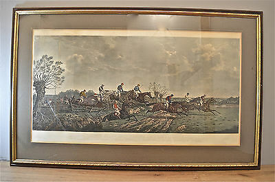Large Antique Print The Silks And Satins Of The Field 1867-68 Hand Coloured Lp1