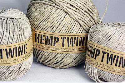 100% Natural HEMP TWINE . Various  Macrame-Crafts