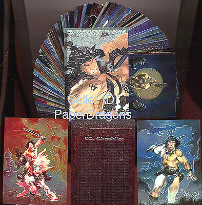 CONAN All-Chromium Series 3 - 90 Card Art Set - FREE US Priority Mail Shipping