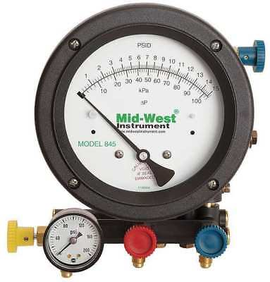 MIDWEST INSTRUMENT 845-5 Backflow Preventer Test Kit, 5 Valves