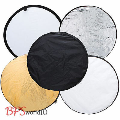 """Photography Photo Reflector 80cm 32"""" 5in1 Light Collapsible Portable Reflector"""