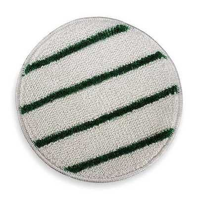 RUBBERMAID FGP26700WH00 Carpet Bonnet, 17 In, White w/Green Stripe
