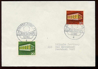 West Germany 1969 Europa Cover #C12183